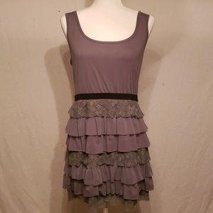 Cute Gray Sleeveless Dress